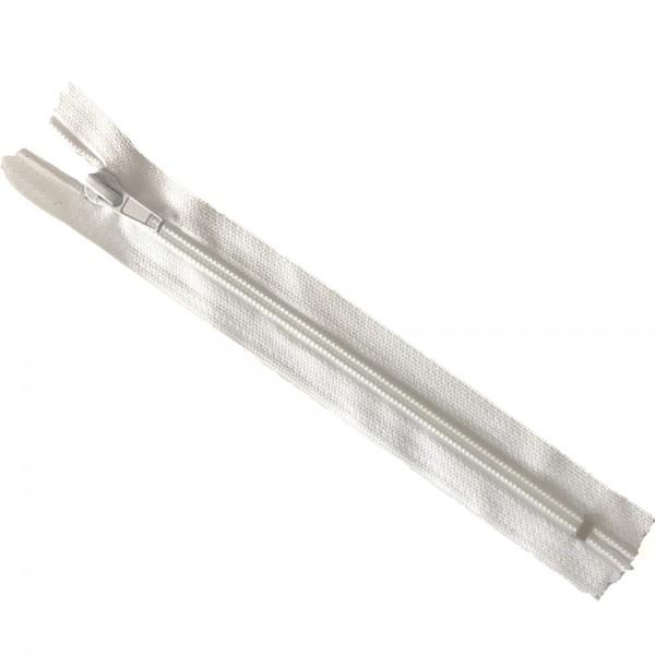 Reißverschluss, ca.18cm, weiß